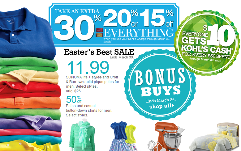 Current Kohl's 30% Off Code