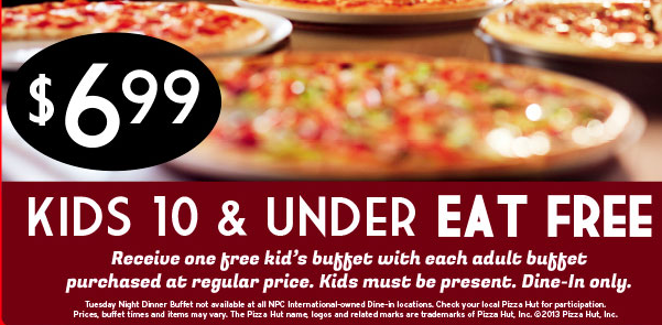 Pizza hut dinner buffet coupons