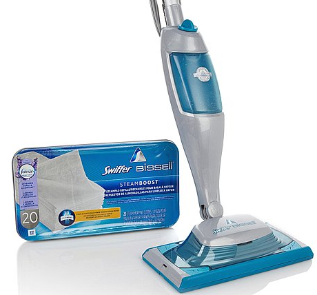 Swiffer Bissell Steamboost Steam Mop With Refill Pads And