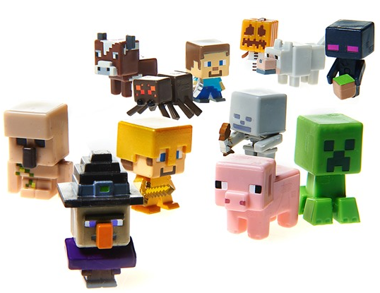 Minecraft Toys And Mini Figures For Kids : Mattel minecraft collectible figures packs total
