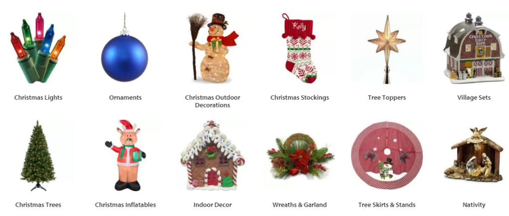 Walmart christmas clearance indoor outdoor for Indoor christmas decorations sale