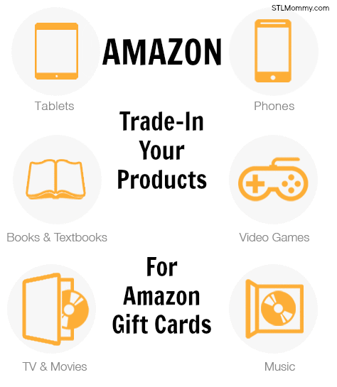 amazon trade in your books movies electronics more for amazon gift cards stl mommy. Black Bedroom Furniture Sets. Home Design Ideas
