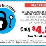 Dierbergs Super Secret Thursday Coupon January 21st
