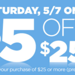Dollar General – Save $5 On Your $25 Purchase Today Only