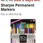 Target Cartwheel – New Offer 40% Off Sharpie Permanent Markers