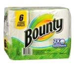 Walgreens – Bounty Paper Towels 6 Count, $3.99