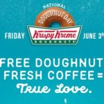 Krispy Kreme – Free Doughnut June 3rd