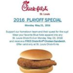 Chick-fil-A – Free Sandwich When You Wear Your Blues Apparel *Today*