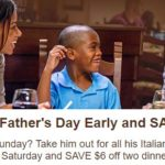 Olive Garden ~ $6 off Two Dinner Entrees
