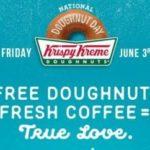 National Doughnut Day – Free Doughnuts At Krispy Kreme & Dunkin' Donuts