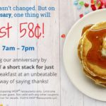 IHOP – Short Stack Of Pancakes $0.58 July 12th