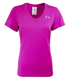 Under armour women 39 s ua v neck loose fit t shirt 15 for Under armour shirts at walmart