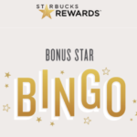 Starbucks Bonus Star Bingo: 10 Bonus Stars