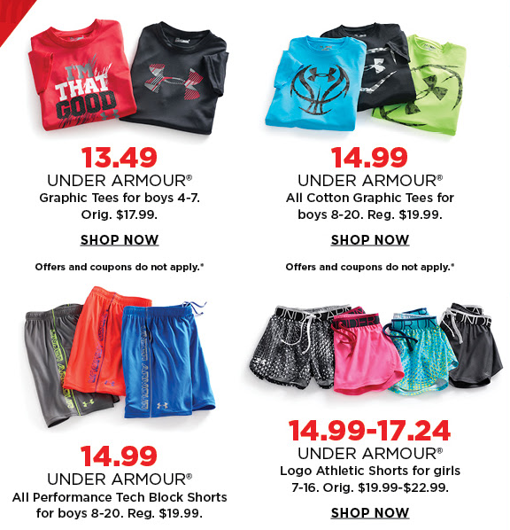 525cebe21b *HOT* Kohl's Under Armour 25% Off Sale – HOT Deals For The Entire Family