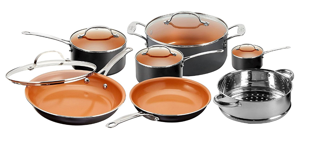 Gotham Steel Kitchen Nonstick Frying Pan And Cookware Set