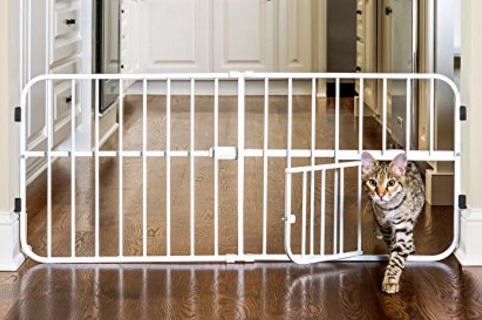 Carlson Pet Products Lil Tuffy Expandable Gate With Small