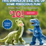 Today ONLY – Build-A-Bear Dinosaurs $10 (Retail $20+)
