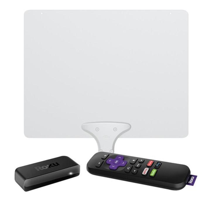 Roku Express Streaming Media Player & HDTV Antenna Package