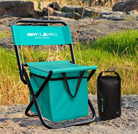 Mini Portable Folding Chair With Built In Cooler