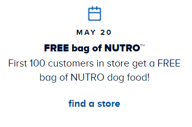 Petsmart Free Dog Food May St