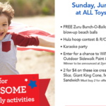 "Toys ""R"" Us FREE Event – Pre-Fourth Of July Activities June 25th"