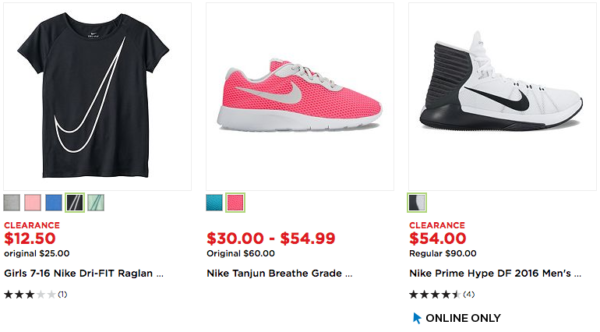 e4995595 Kohl's is offering up to 70% off a selection of Nike men's, women's, and  kids' clearance apparel, shoes, and accessories. You find some great deals  for the ...