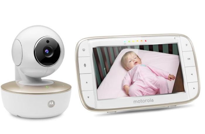 motorola mbp 855 connect portable 5 inch screen video baby monitor with wi fi. Black Bedroom Furniture Sets. Home Design Ideas
