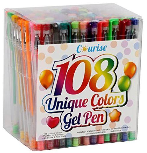 courise 108 unique colors gel pens gel pen set  13 99