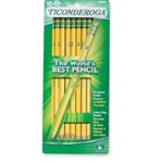 Walgreens – Ticonderoga Pre-Sharpened Pencils 10-Count 99¢