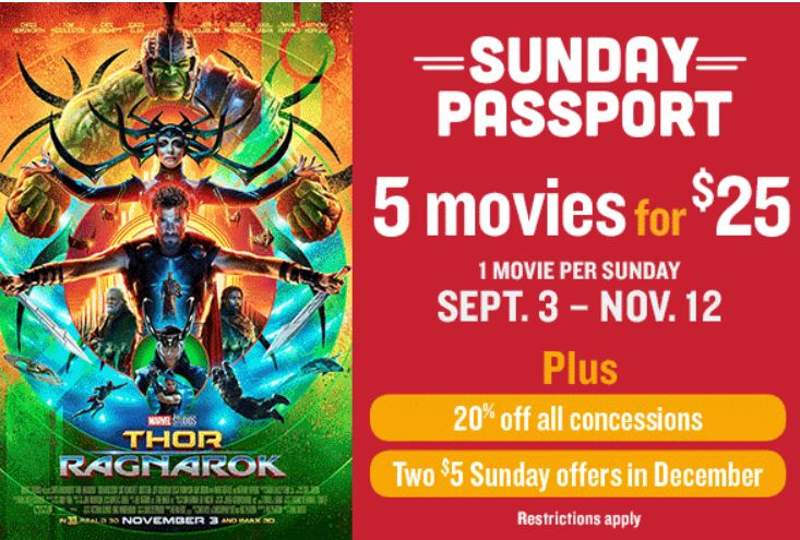 image regarding Blockbuster Printable Coupon known as Marcus Wehrenberg Theatres Sunday Pport - 5 Motion pictures For