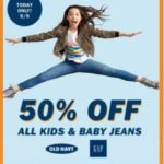 Old Navy – 50% Off Kids & Baby Jeans *Today ONLY*
