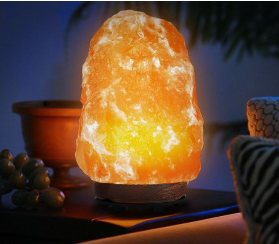 Wuudi Natural Hand Carved Crystal Himalayan Rock Salt Lamp USD 17.99 (Retail USD 39.99) - STL Mommy