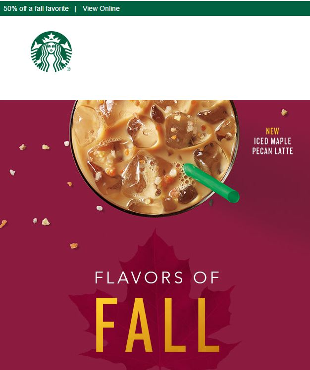 50% Off Select Fall Favorites October 10