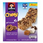 Quaker Girl Scouts Caramel Coconut Chewy Granola Bars 8-pack $2