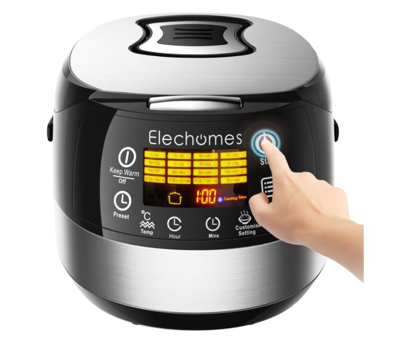 Elechomes LED Touch Control Electric Rice Cooker $55.99