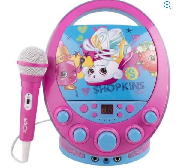 Shopkins Oval Flashing Light Karaoke Machine 18 97