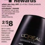 CVS – 2 FREE L'Oreal Advanced Hair Care Products