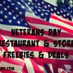 Veterans Day Restaurant & Store Freebies & Deals