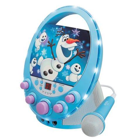 Disney Frozen Flashing Light Olaf Karaoke Machine 19 97