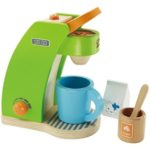 Hape Kid's Coffee Maker Wooden Play Kitchen Set with Accessories $12 (Retail $24.99)
