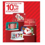 Target – 10% Off All Target Gift Cards Sunday December 3rd