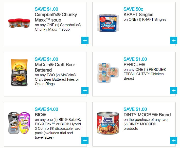 graphic about Nyquil Coupons Printable called Refreshing Printable Coupon codes - Campbells, Bounty, Kraft, BIC