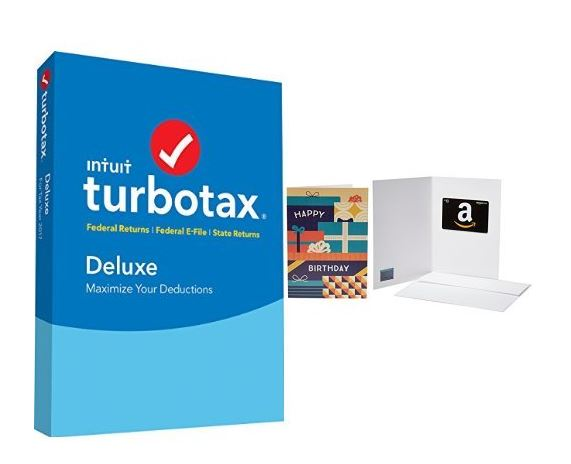 TurboTax Deluxe 2017 Tax Software Federal & State + Fed ...