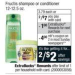 CVS – Garnier Fructis Shampoo or Conditioner $1