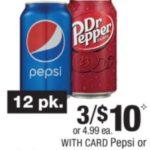 New Pepsi Coupons + Pepsi & Dr Pepper 12 Packs $2.50 At CVS