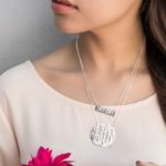 Personalized Monogram Sterling Silver Necklace $29.99