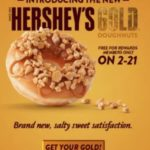 Krispy Kreme – FREE Hershey's Gold Doughnut For Rewards Members *Today Only*