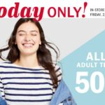 Old Navy – Adult Tees 50% Off Today ONLY
