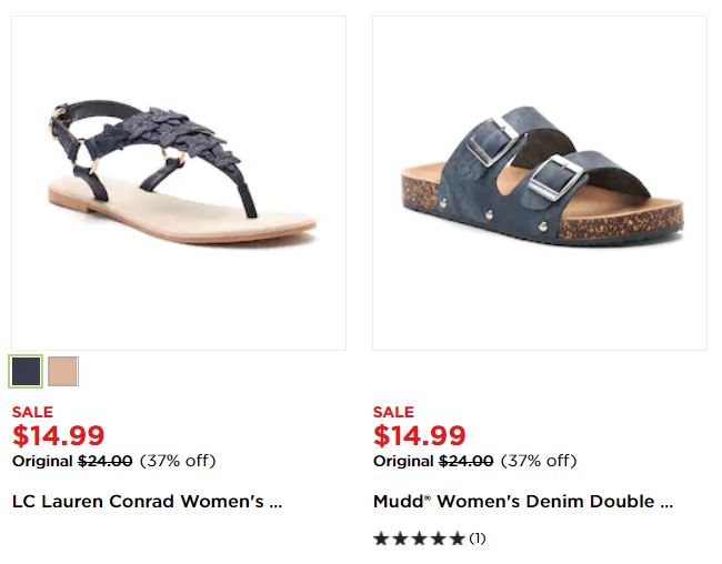 f92df1ee90af Right now when you buy four pairs of select women s sandals at Kohl s  currently priced at  14.99 each