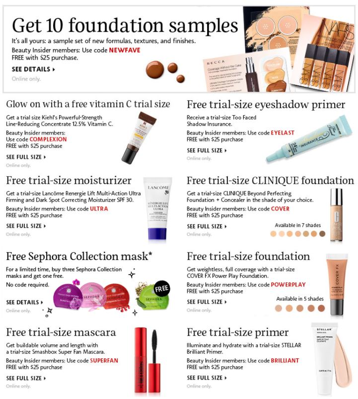 Sephora Samples and FREEBIES with Purchase - STL Mommy